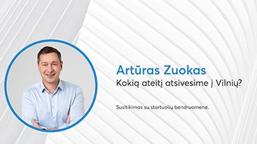 Startuolių susitikimas su Artūru Zuoku